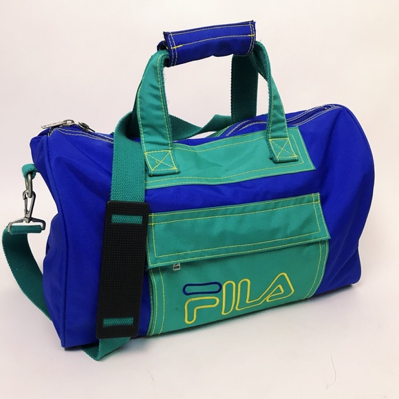 5dd74c4809ff Vintage Fila Color Block Spell Out Duffle Bag